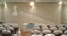 Uk Event Services Venue Drapes Black Draps Ivory